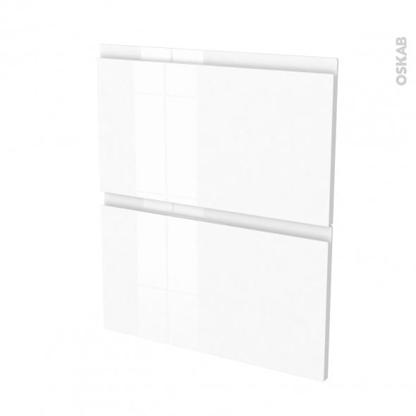 Façades de cuisine - 2 tiroirs N°57 - IPOMA Blanc - L60 x H70 cm