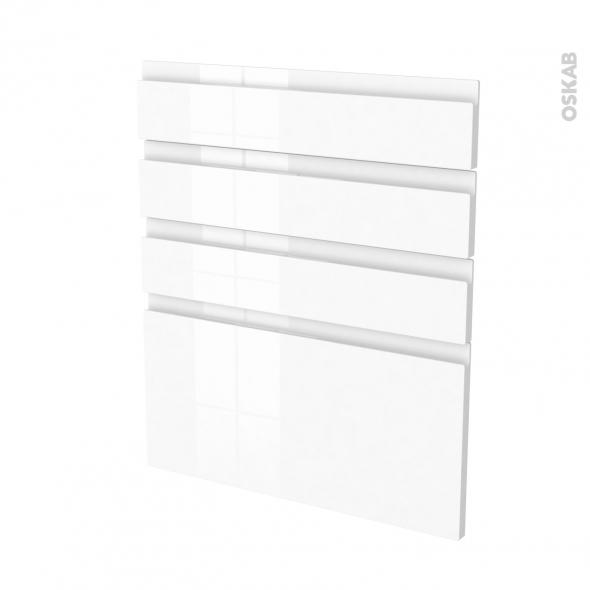 IPOMA Blanc - façade N°59 4 tiroirs - L60xH70