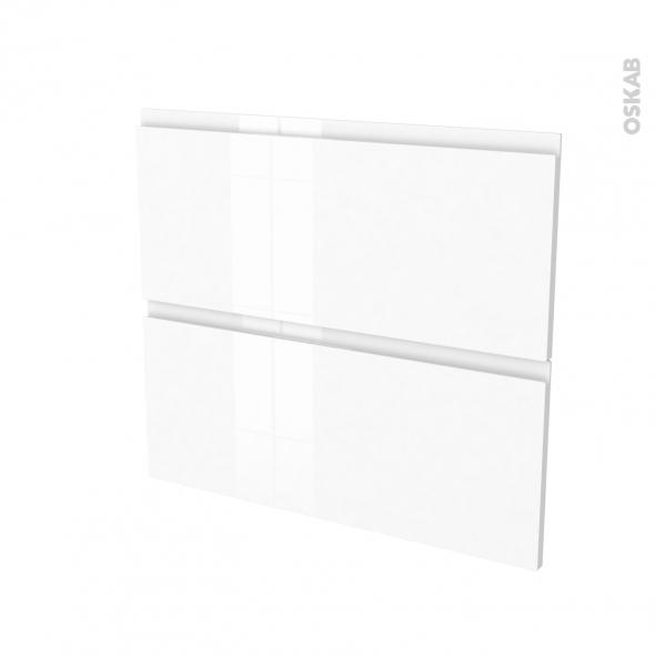 Façades de cuisine - 2 tiroirs N°60 - IPOMA Blanc - L80 x H70 cm