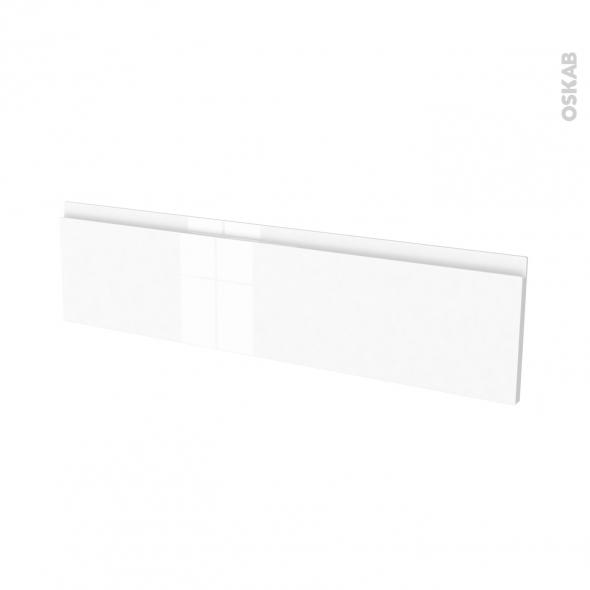 Façades de cuisine - Face tiroir N°41 - IPOMA Blanc brillant - L100 x H25 cm