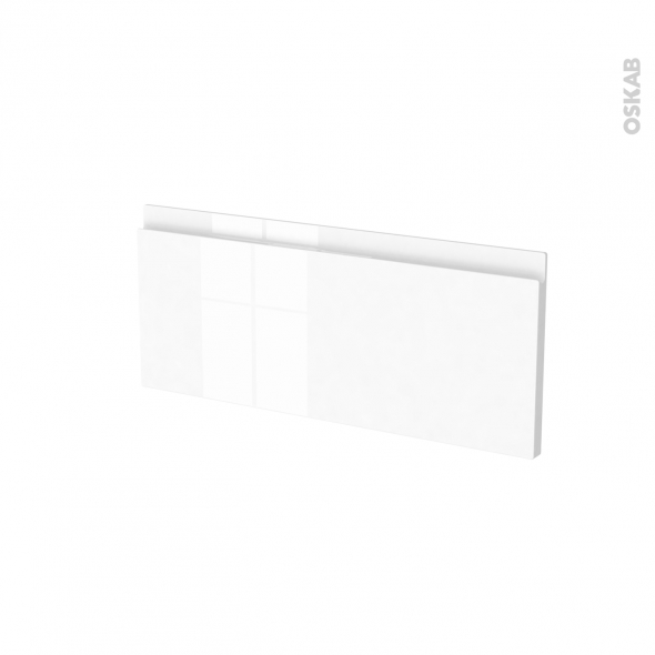Façades de cuisine - Face tiroir N°5 - IPOMA Blanc brillant - L60 x H25 cm