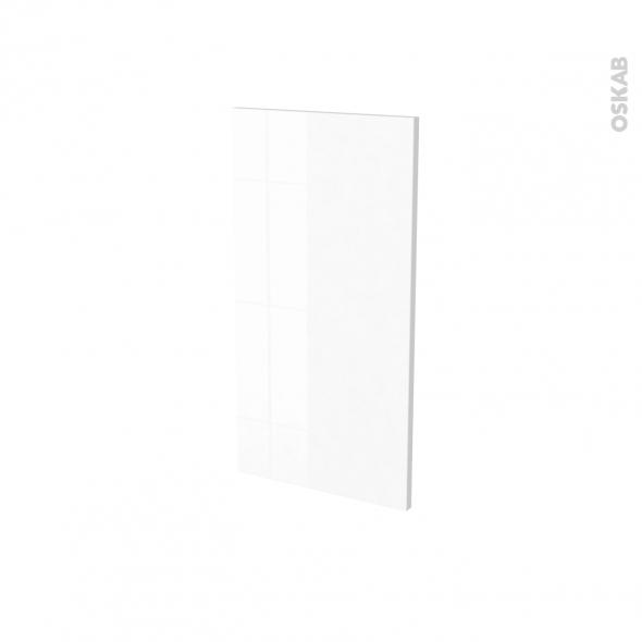 Finition cuisine - Joue N°30 - IPOMA Blanc brillant - Avec sachet de fixation - L37 x H70 x Ep.1.6 cm
