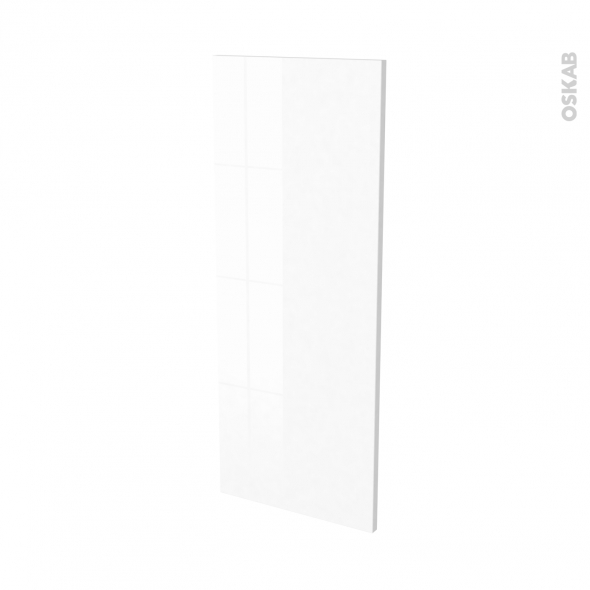 Finition cuisine - Joue N°32 - IPOMA Blanc - Avec sachet de fixation - L37 x H92 x Ep.1.6 cm
