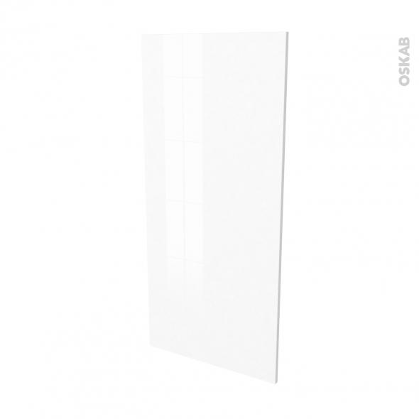 IPOMA Blanc brillant - Rénovation 18 - joue N°80 - Avec sachet de fixation - L60 x H125 Ep.1.2 cm