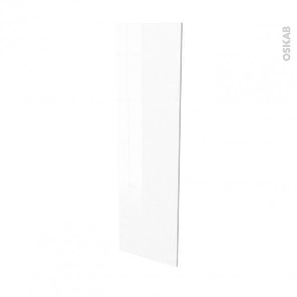 Finition cuisine - Joue N°34 - IPOMA Blanc - Avec sachet de fixation - L37 x H125 x Ep.1.6 cm