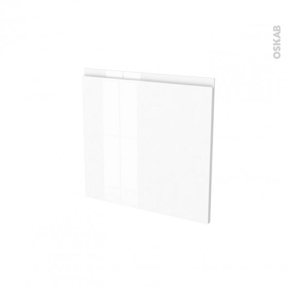 Porte lave vaisselle - Intégrable N°16 - IPOMA Blanc brillant - L60 x H57 cm