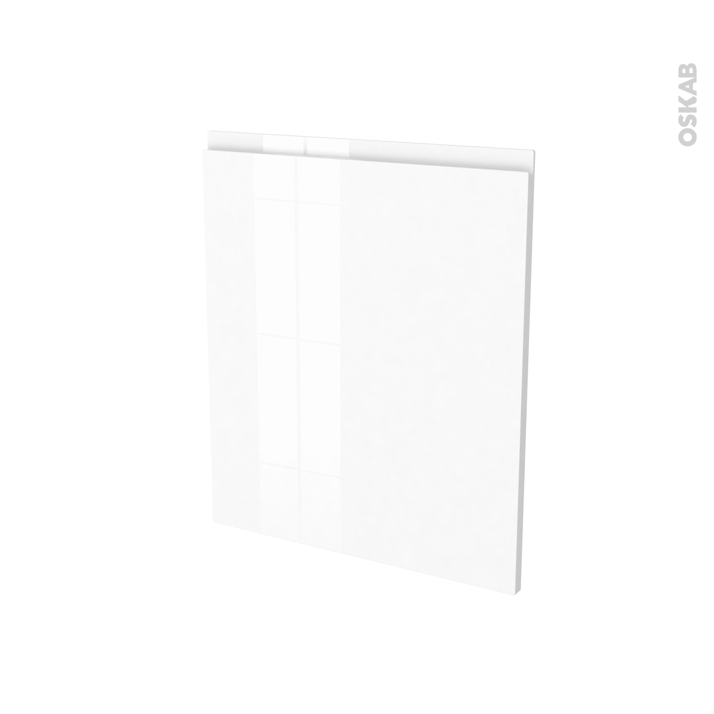 Porte Lave Vaisselle Full Intégrable N21 Ipoma Blanc Brillant L60 X H70 Cm Oskab