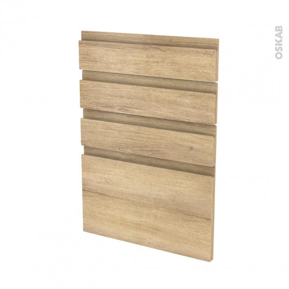 Façades de cuisine - 4 tiroirs N°55 - IPOMA Chêne naturel - L50 x H70 cm
