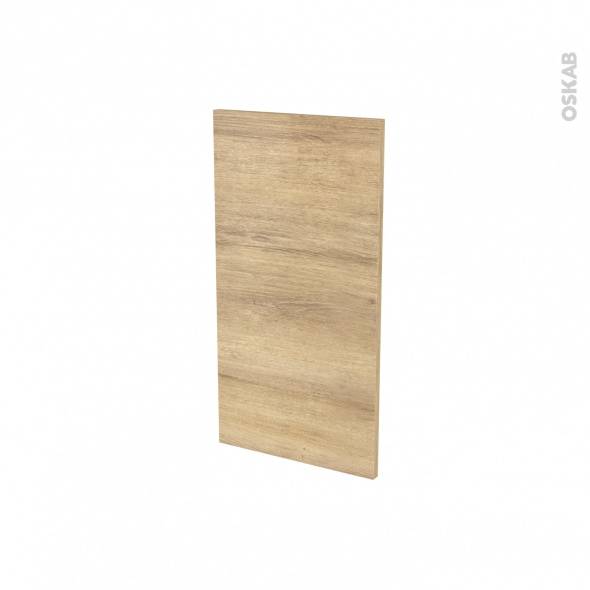 Finition cuisine - Joue N°30 - IPOMA Chêne naturel - Avec sachet de fixation - L37 x H70 x Ep.1.6 cm