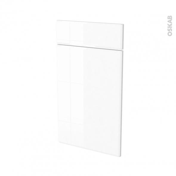 Façades de cuisine - 1 porte 1 tiroir N°51 - IRIS Blanc - L40 x H70 cm