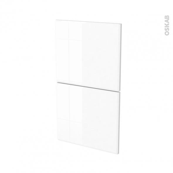 Façades de cuisine - 2 tiroirs N°52 - IRIS Blanc - L40 x H70 cm