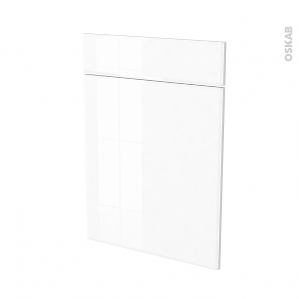 Façades de cuisine - 1 porte 1 tiroir N°54 - IRIS Blanc - L50 x H70 cm