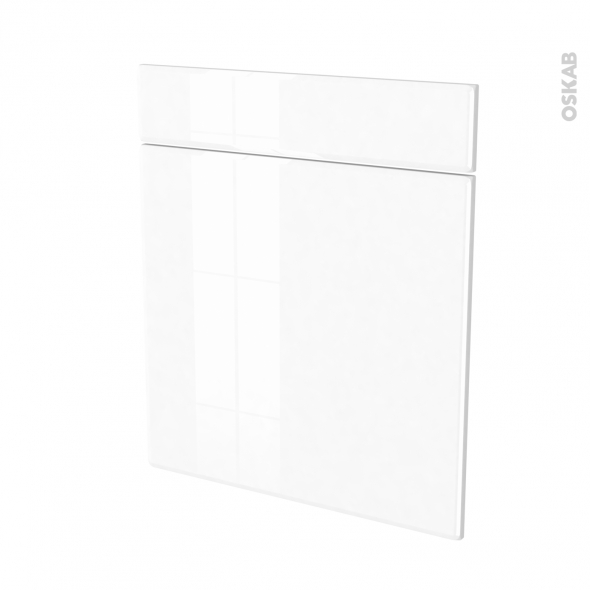 IRIS Blanc - façade N°56 1 porte 1 tiroir - L60xH70