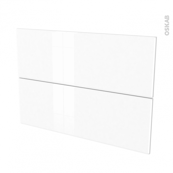 Façades de cuisine - 2 tiroirs N°61 - IRIS Blanc - L100 x H70 cm