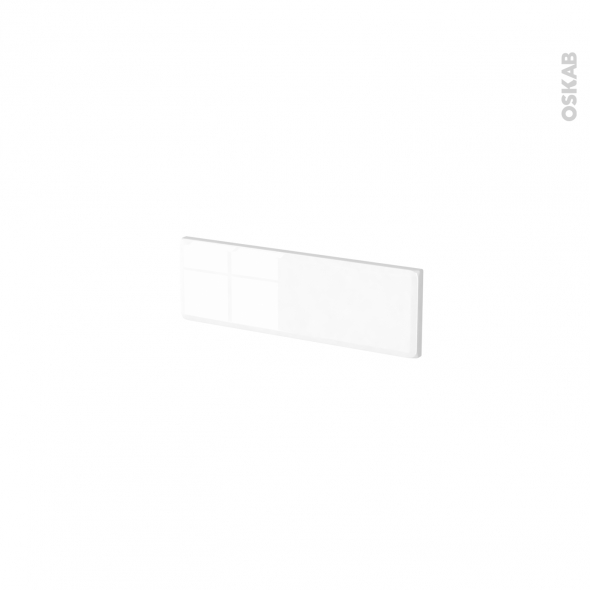 Façades de cuisine - Face tiroir N°1 - IRIS Blanc - L40 x H13 cm