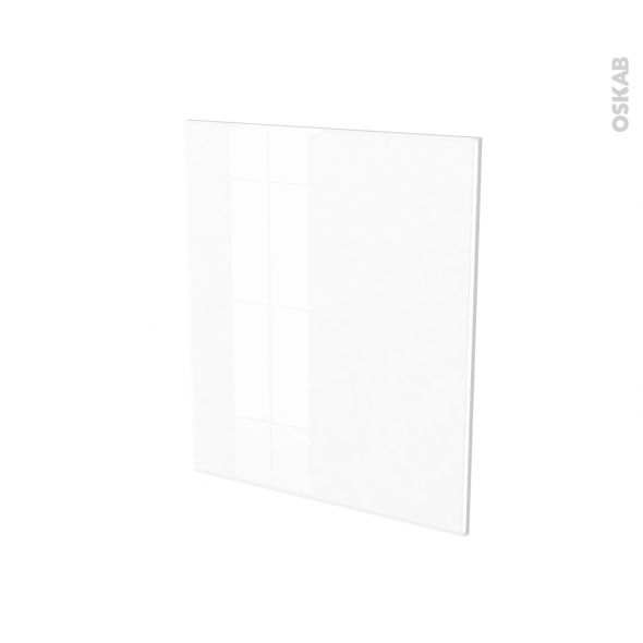 Porte lave vaiselle - Full intégrable N°21 - IRIS Blanc - L60 x H70 cm