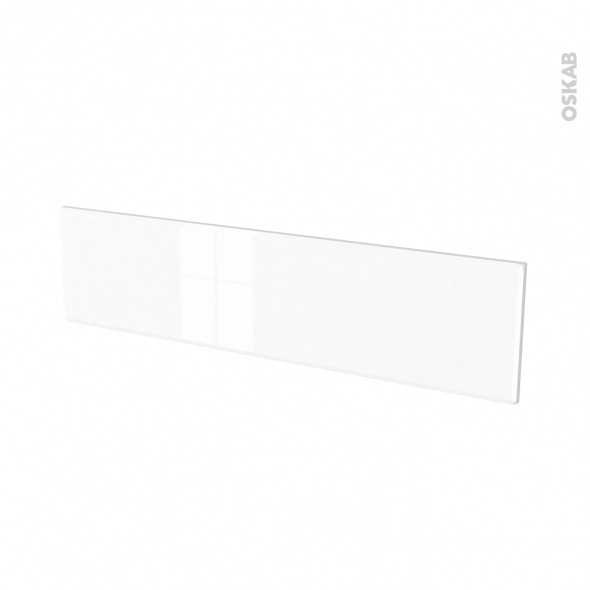 Façades de cuisine - Face tiroir N°41 - IRIS Blanc - L100 x H25 cm