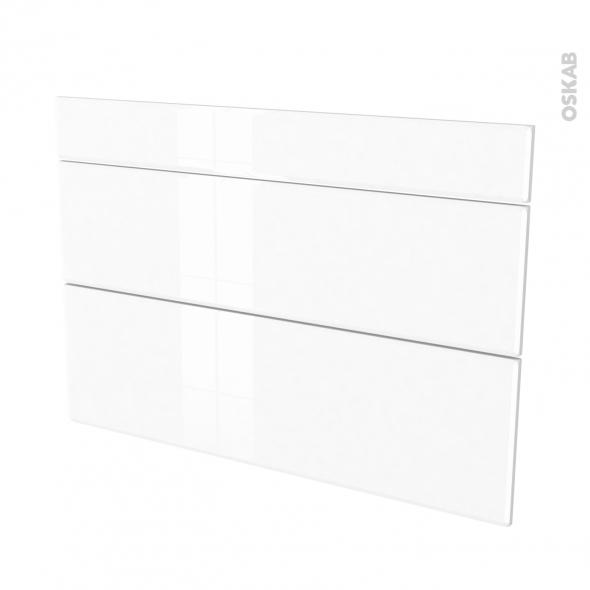 Façades de cuisine - 3 tiroirs N°75 - IRIS Blanc - L100 x H70 cm