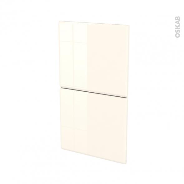 IRIS Ivoire - façade N°52  2 tiroirs - L40xH70