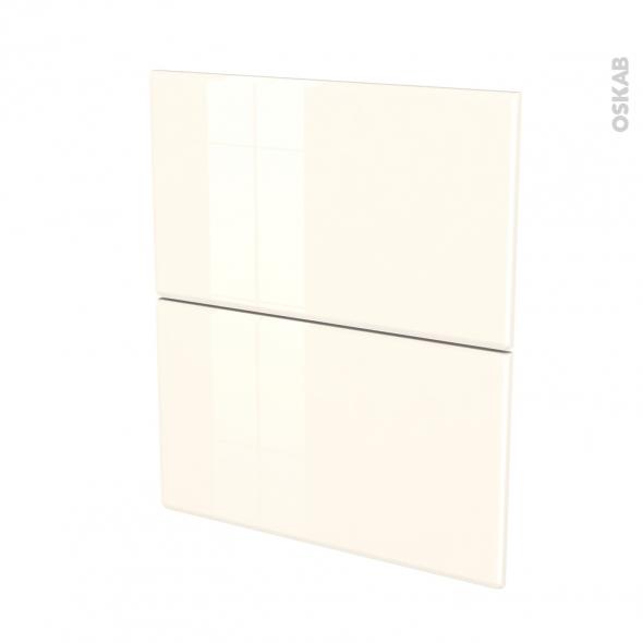 IRIS Ivoire - façade N°57 2 tiroirs - L60xH70