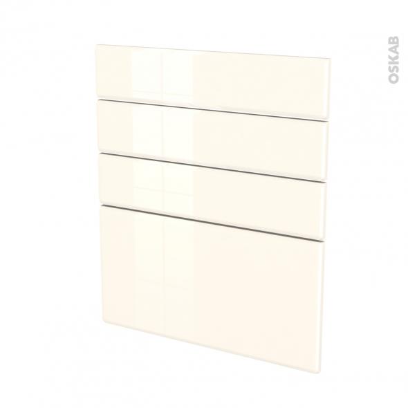IRIS Ivoire - façade N°59 4 tiroirs - L60xH70