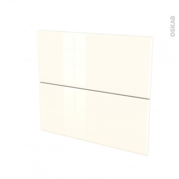 IRIS Ivoire - façade N°60 2 tiroirs - L80xH70