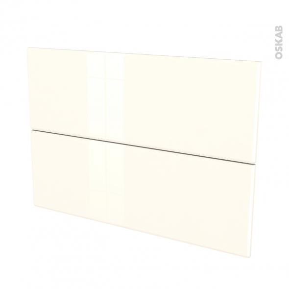 IRIS Ivoire - façade N°61 2 tiroirs - L100xH70