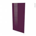 Façades de cuisine - Porte N°27 - KERIA Aubergine - L60 x H125 cm