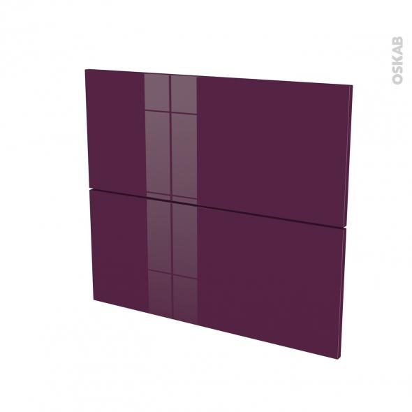 KERIA Aubergine - façade N°60 2 tiroirs - L80xH70