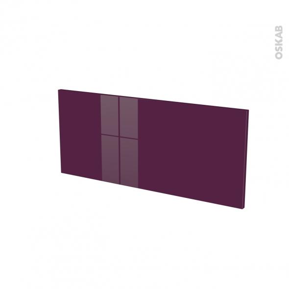 Façades de cuisine - Face tiroir N°11 - KERIA Aubergine - L80 x H35 cm