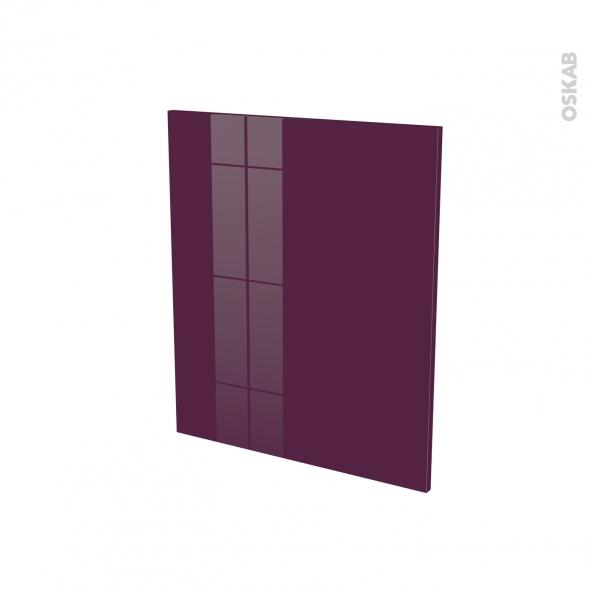 Porte lave vaiselle - Full intégrable N°21 - KERIA Aubergine - L60 x H70 cm