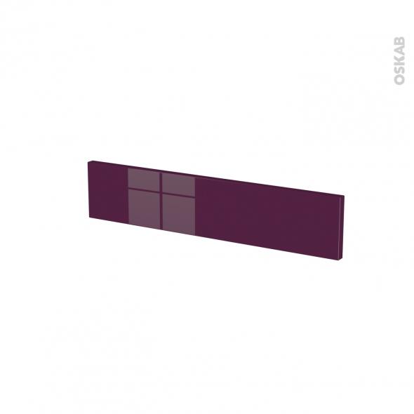 Façades de cuisine - Face tiroir N°3 - KERIA Aubergine - L60 x H13 cm