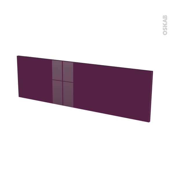Façades de cuisine - Face tiroir N°40 - KERIA Aubergine - L100 x H31 cm