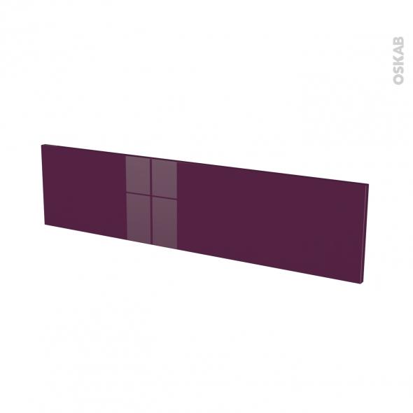 Façades de cuisine - Face tiroir N°41 - KERIA Aubergine - L100 x H25 cm