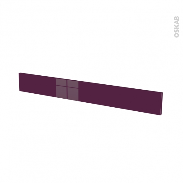 Façades de cuisine - Face tiroir N°43 - KERIA Aubergine - L100 x H13 cm