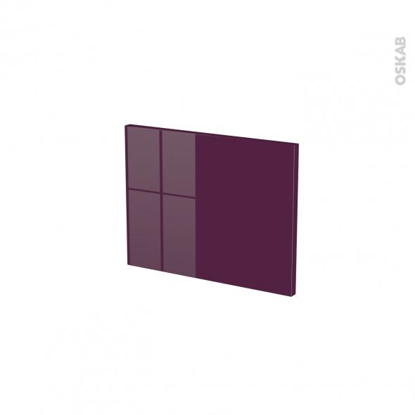 Façades de cuisine - Face tiroir N°6 - KERIA Aubergine - L40 x H31 cm