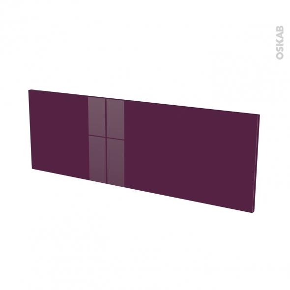 Façades de cuisine - Porte N°12 - KERIA Aubergine - L100 x H35 cm