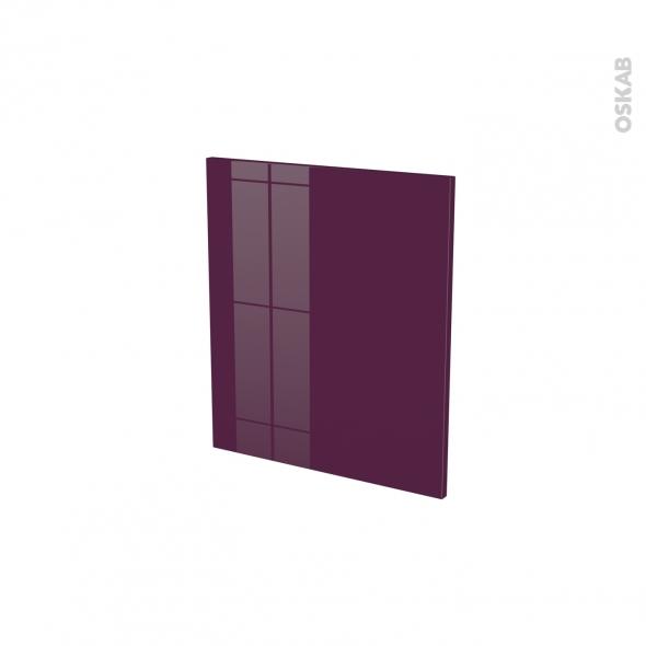 KERIA Aubergine - porte N°15 - L50xH57