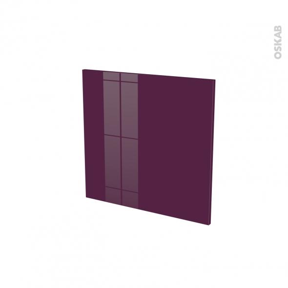 Façades de cuisine - Porte N°16 - KERIA Aubergine - L60 x H57 cm