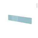 Façades de cuisine - Face tiroir N°3 - KERIA Bleu - L60 x H13 cm