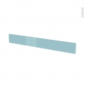 Façades de cuisine - Face tiroir N°43 - KERIA Bleu - L100 x H13 cm