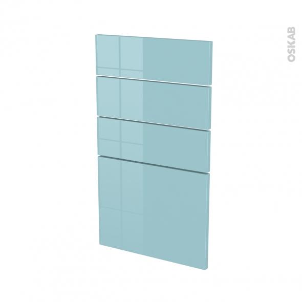 Façades de cuisine - 4 tiroirs N°53 - KERIA Bleu - L40 x H70 cm