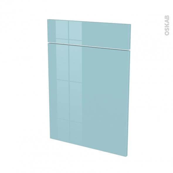 KERIA Bleu - façade N°54 1 porte 1 tiroir - L50xH70