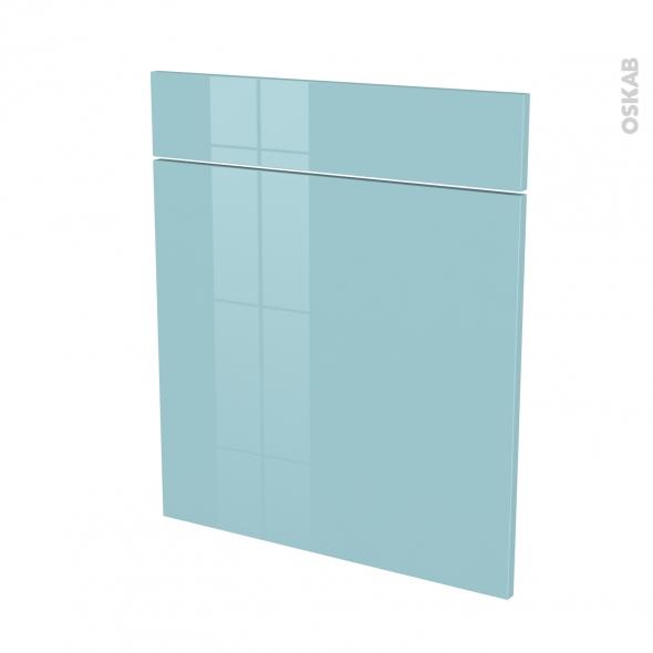 KERIA Bleu - façade N°56 1 porte 1 tiroir - L60xH70
