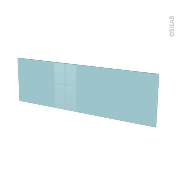 Façades de cuisine - Face tiroir N°40 - KERIA Bleu - L100 x H31 cm