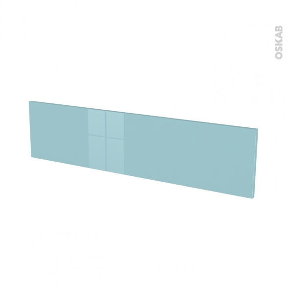 Façades de cuisine - Face tiroir N°41 - KERIA Bleu - L100 x H25 cm