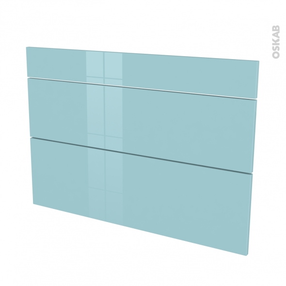 Façades de cuisine - 3 tiroirs N°75 - KERIA Bleu - L100 x H70 cm
