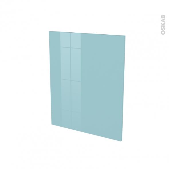 Finition cuisine - Joue N°29 - KERIA Bleu - Avec sachet de fixation - A redécouper - L58 x H41 x Ep.1.6 cm