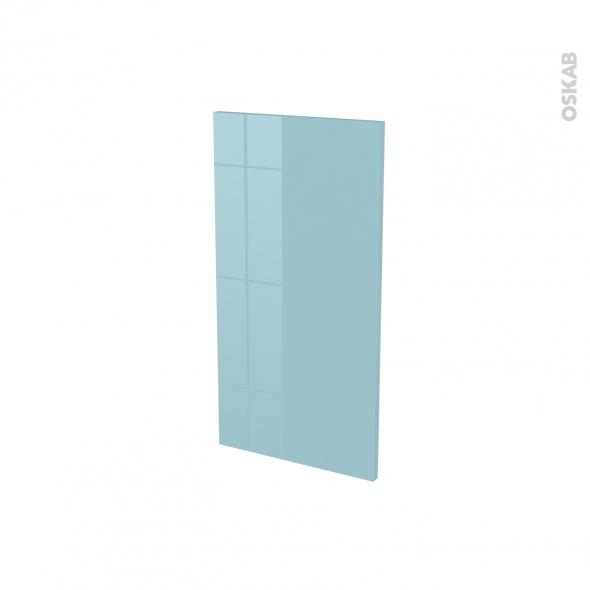 Finition cuisine - Joue N°30 - KERIA Bleu - Avec sachet de fixation - A redécouper - L37 x H41 x Ep.1.6 cm