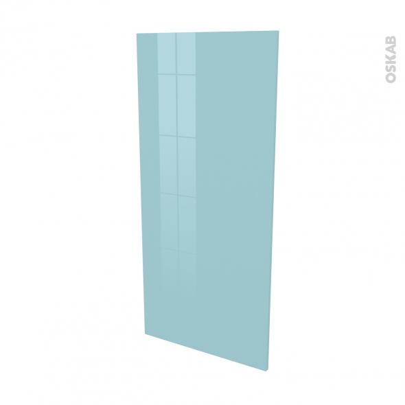 Finition cuisine - Joue N°33 - KERIA Bleu - Avec sachet de fixation - L58 x H125 x Ep.1.6 cm